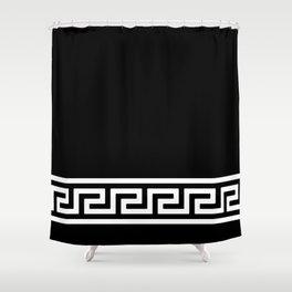 greek key shower curtain Shower Curtain