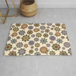 Flowers - ornamental pattern Rug