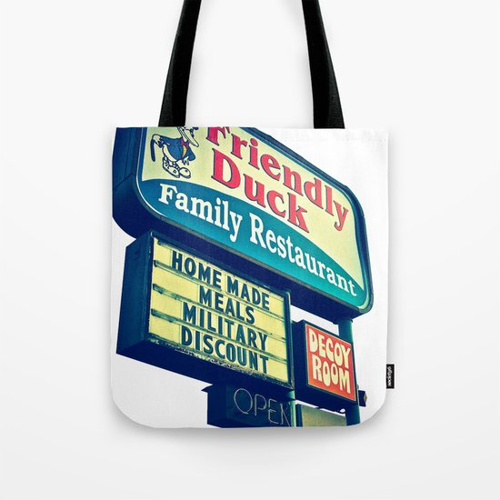 The Friendly Duck Tote Bag
