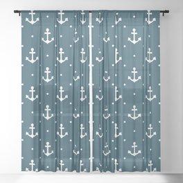 Anchor pattern Sheer Curtain