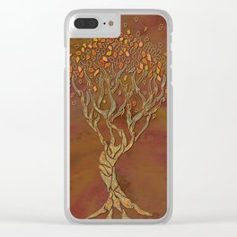 Fantasy Fall Tree Clear iPhone Case