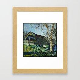 Cedarburg Covered Bridge Framed Art Print