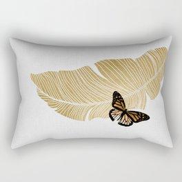 Butterfly & Palm Rectangular Pillow