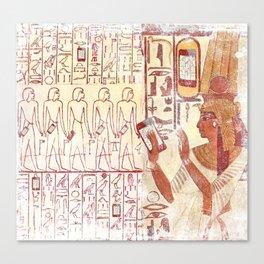 Ancient Egypt smartphones Canvas Print