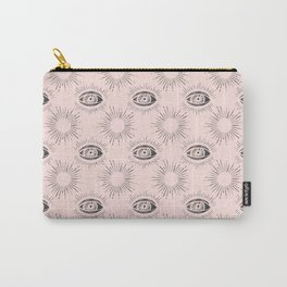 Sun and Eye of wisdom pattern - Pink & Black - Mix & Match with Simplicity of Life Carry-All Pouch