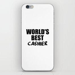 worlds best cashier iPhone Skin