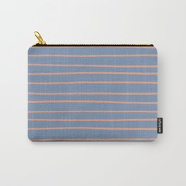 Earthen Trail 4-26 Hand Drawn Horizontal Lines on Dusky Sky 27-23 Carry-All Pouch