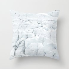 White winter glacier icelandic landscape photography Throw Pillow