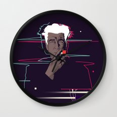 David Lynch - Glitch art Wall Clock