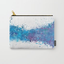Brush Stroke 2: White & Blue Carry-All Pouch