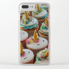 Unicorn Cupcakes Clear iPhone Case