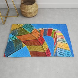 A Rainbow Of Shipping Containers Rug
