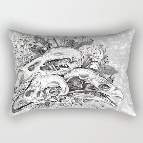 Skull Pile Rectangular Pillow