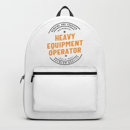 Heavy Equipment Operator Backpack
