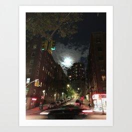 Washington Heights Lit Art Print