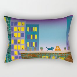 Freedom for Cats Rectangular Pillow