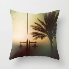 Mysterious sunset Throw Pillow