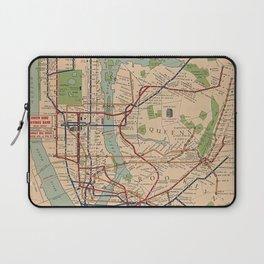 New York City Metro Subway System Map 1954 Laptop Sleeve