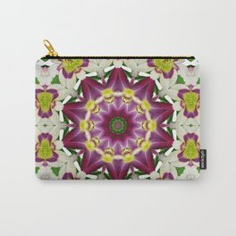 Daylily mandala 1, red-violet, cream and yellow Carry-All Pouch
