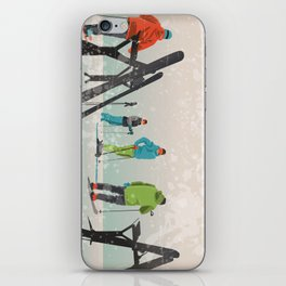Skiers Summit iPhone Skin