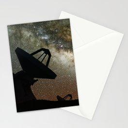 Radio Telescopes and Milky Way Stationery Cards