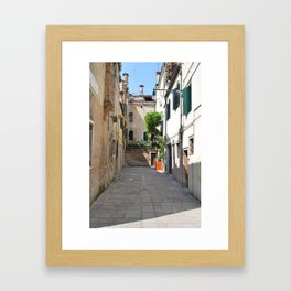 Venetian Courtyard Framed Art Print