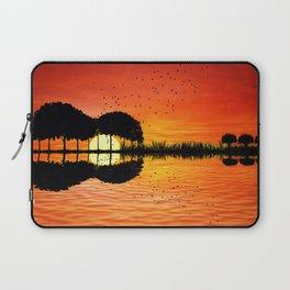 guitar island sunset Laptop Sleeve