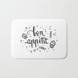 Bon appétit - calligrapy Bath Mat