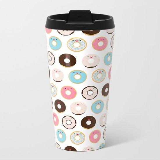 Super Sweet Donuts Metal Travel Mug