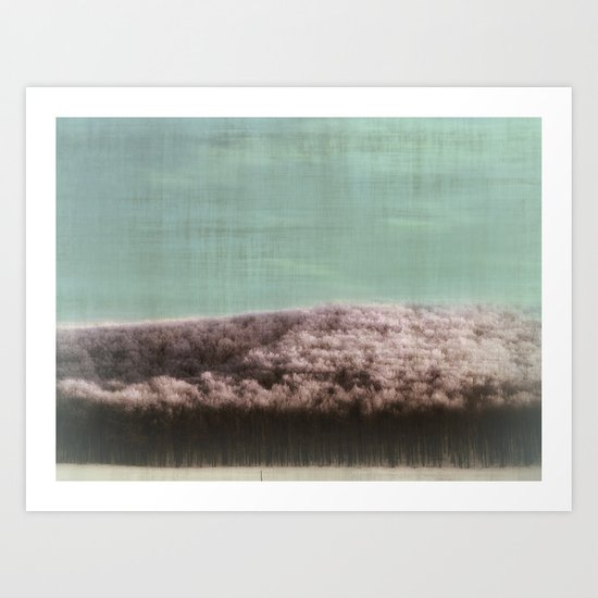 Abstract ~ Snowed landscape  Art Print