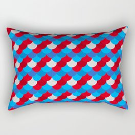 Mermaid Tail Pattern American Flag Colors Xmas  Rectangular Pillow