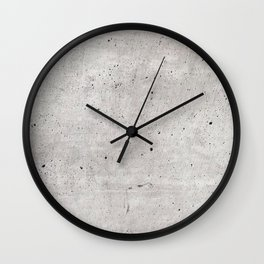 Smooth Concrete Small Rock Holes Light Brush Pattern Gray Textured Pattern Wall Clock