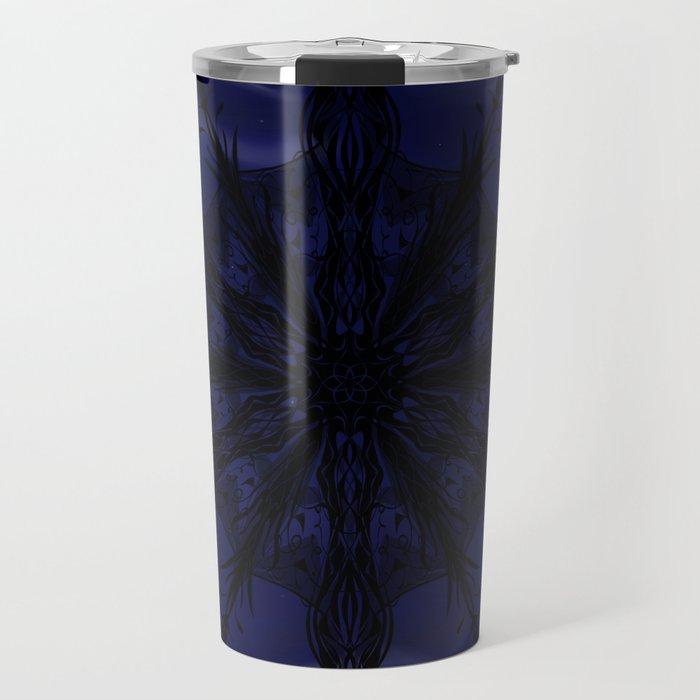 Gothic Snowflake Silhouette Travel Mug