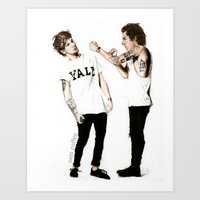 larry Art Prints featuring Larry by Sam Coffee