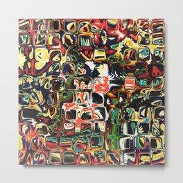 Abstract Blocks of Color Metal Print