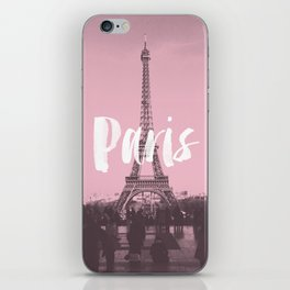 Pink Paris Eiffel Tower iPhone Skin