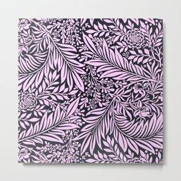 Light Purple Vintage foliage illustration for fine home decoration Metal Print