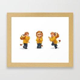 Beckam Lion Framed Art Print