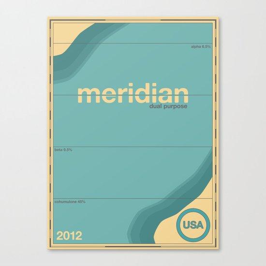 meridian single hop Canvas Print