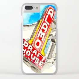 Alamo Drafthouse watercolor Clear iPhone Case