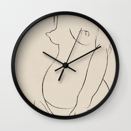 Henri Matisse Nude Sketch - Naked Woman 1913 Wall Clock