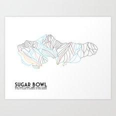 Sugar Bowl, CA - Minimalist Trail Map Art Print