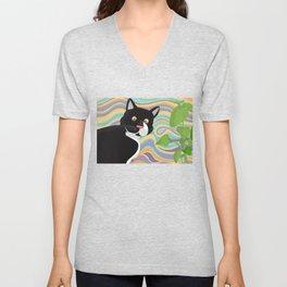 Dizzy cat Unisex V-Neck