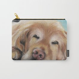 Sweet Sleeping Golden Retriever Puppy by annmariescreations Carry-All Pouch