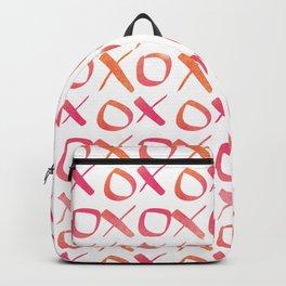 xoxo Watercolor Pink Orange Backpack