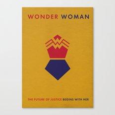 WonderWoman Alternative Minimalist Poster Canvas Print