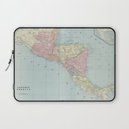Vintage Map of Central America (1901) Laptop Sleeve