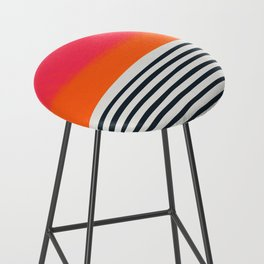 Sunset Ripples Bar Stool