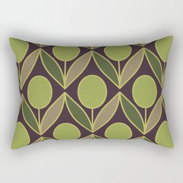 Minimalistic pattern — Olives Rectangular Pillow
