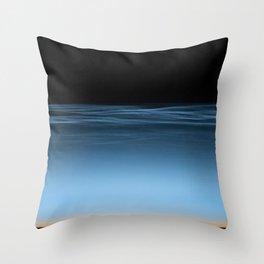 twilight shine on the horizon   space #17 Throw Pillow
